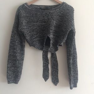 Forever 21 Chunky Knit Cropped Sweater Size M